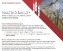 Malting Barley: Keys to Successful Production in New York State